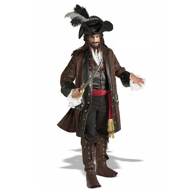 القراصنة الكاريبي دعوى الرجال أداء المرحلة زي زي هالوين تنكري جاك الكابتن زي القراصنة