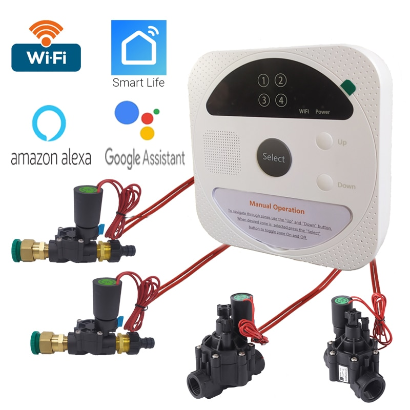 WIFI Connect Smart Watering Timer Garden Irrigation Controller waterproof  Water Valve Irrigation timer  Smart Watering System
