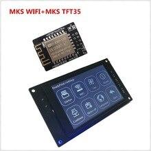 3d принтер дисплей MKS TFT35 V1.0 сенсорный экран + MKS TFT Wi-Fi модуль пульт дистанционного управления ЖК-панель 3,5 ''TFT цветной дисплеер