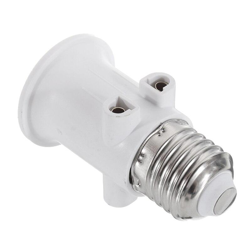 AC100-240V 4A E27 ABS conector de clavija de la UE accesorios adaptador...