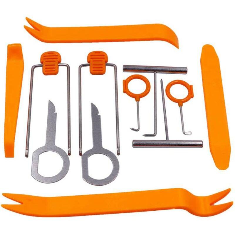 Инструмент для снятия панели салона автомобиля, 12 шт., инструмент для снятия панели приборной панели, DVD-плеера, установка, специальный инстр...