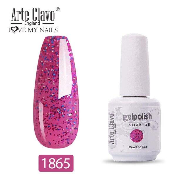 Arte Clavo Glitter Color Gel Nail Polish Manicure Shiny Nail Art Soak Off Uv Led Nail Art Gel Girl Friend Gift Hybrid Varnish Nail Gel Aliexpress