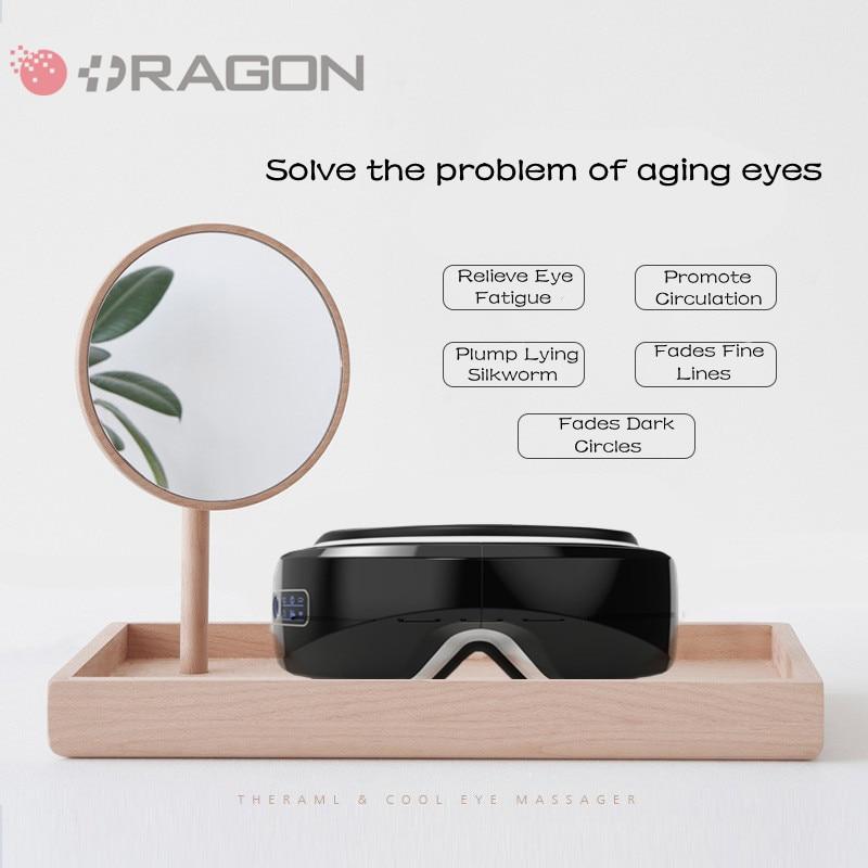 Eye Massager 4D Smart Airbag Vibration Eye Care Instrument Hot Compress Bluetooth Eye Massage Relieves Fatigue And Dark Circles недорого
