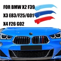 3d 3pcs for bmw x3 e85 f25 g01 x4 f26 g02 x2 f39 2007 2020 car front bumper racing grills clip m sport performance car covers