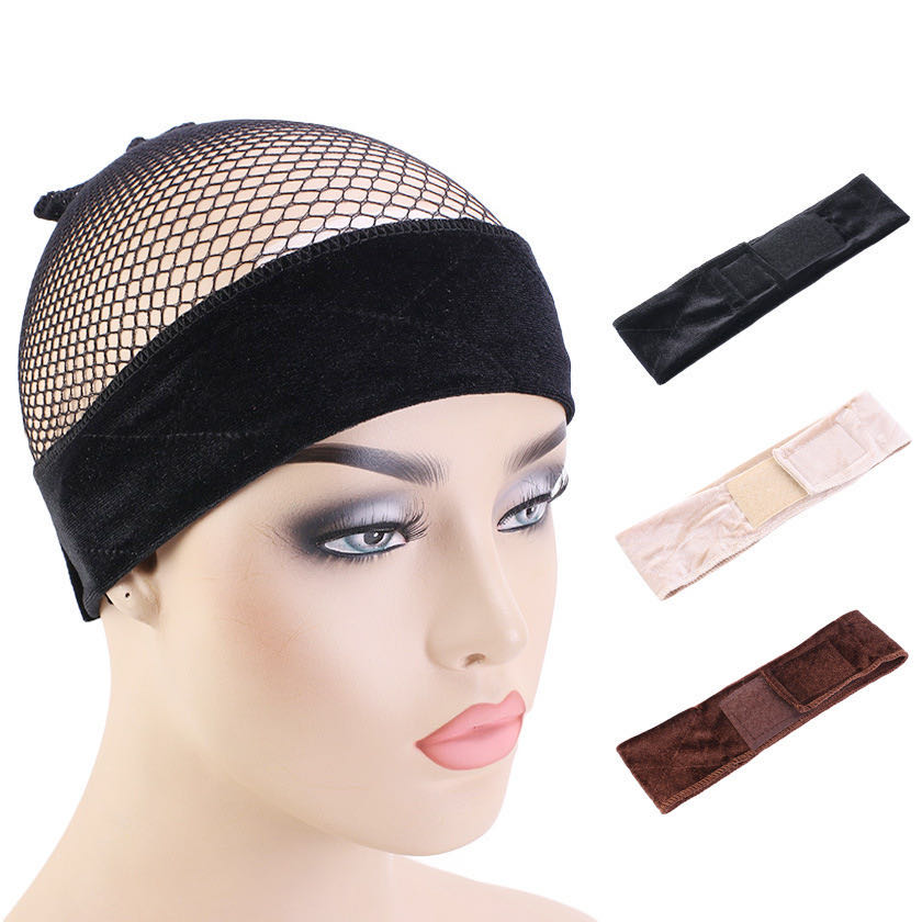 New Wig Cap And Hair Band For Making Wig Caps Grip Headband Wig Accessories Wig Making Kit Adjustable mesh wig cap