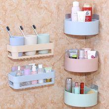 Wall Corner Storage Rack Bathroom Shelving Organizer Shower Shampoo Holder Toilet Suction Cup Storage Rack Bathroom Accessories