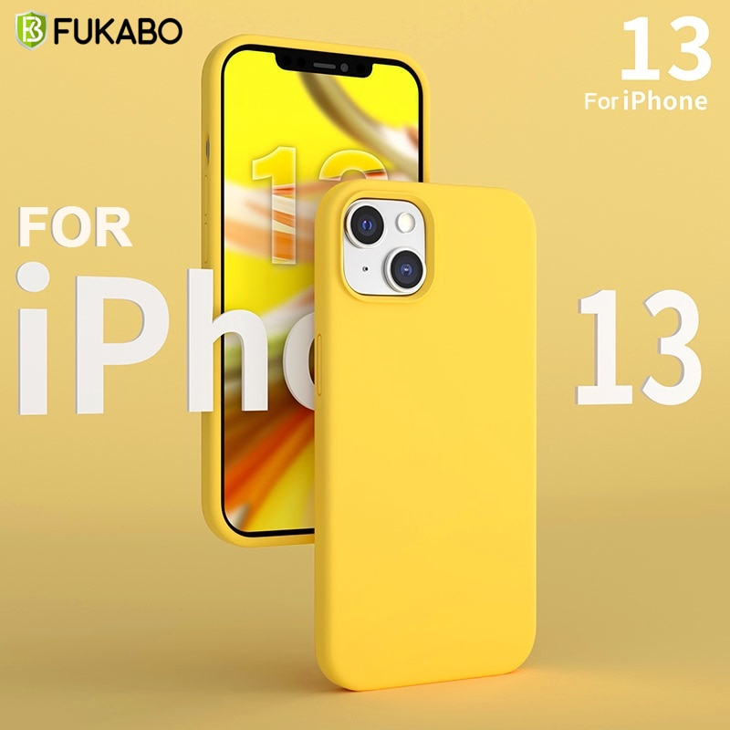 For iPhone 13 Pro Max Case Original Liquid Silicone Cove iPhone 13 Mini Luxury Shockproof Protective