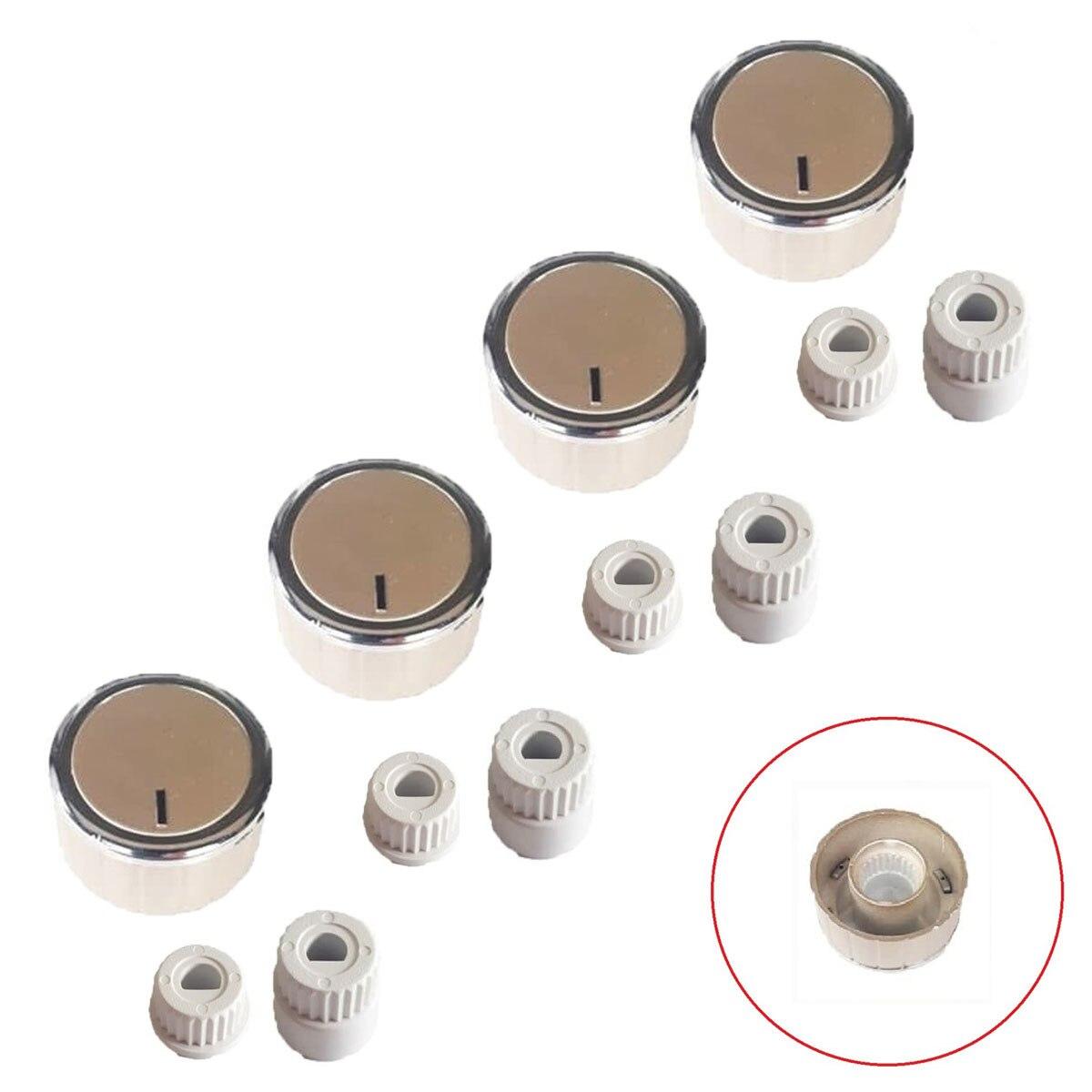 İtimat Button 4 pcs Team Flush Cooktop Button-TYPE 2 Gray Staninless HT-SÜ0018-21