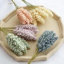 6 pièces/paquet artificielle vanille Mini mousse Berry Spike fleurs artificielles Bouquet pour la maison plante décoration murale céréales plante tas