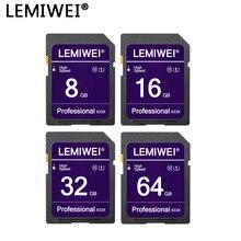 Tarjeta de memoria 64GB 32GB cámara profesional de alta velocidad Flash tarjeta 16GB 8GB UHS-I Clase 10 tarjeta de almacenamiento de cámara emiwei