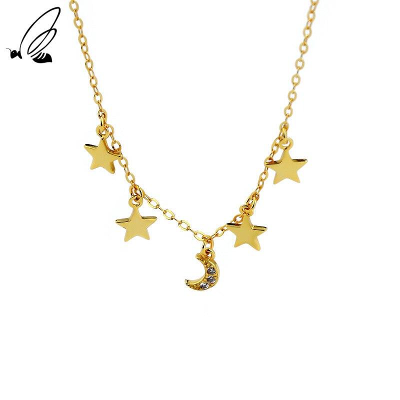 Ожерелье-из-серебра-925-пробы-с-подвеской-в-виде-звезды-и-Луны