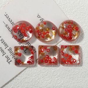 100pcs Fashion Resin Dream red half ball fitting headdress charm Jewelry accessories handmade DIY