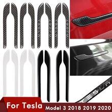 4PCS For Tesla Model 3 Door Handle Protector Sticker Door Handle Wrap Cover For Tesla Model Y Accessories Carbon Model3 ModelY
