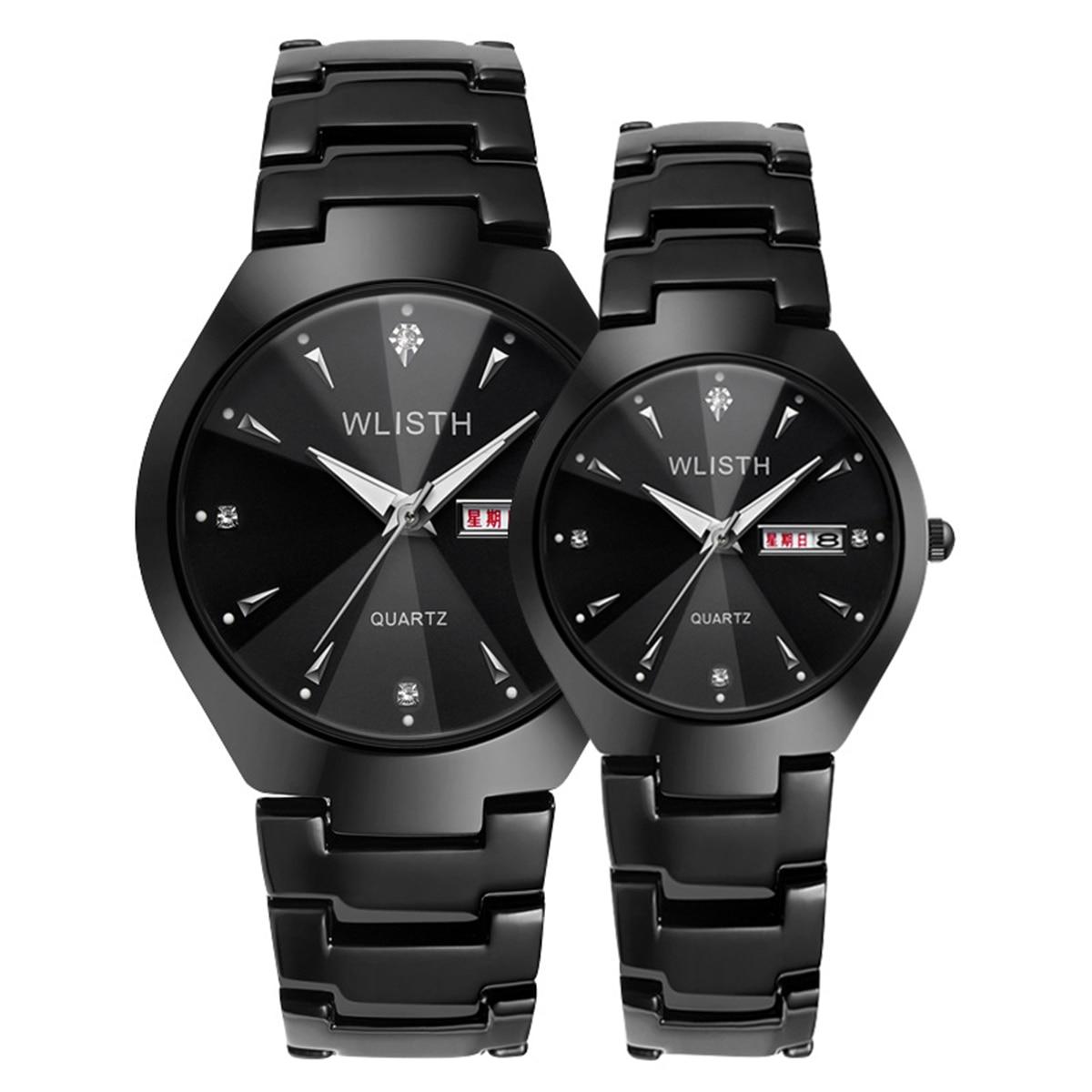 Couple Watch luxury Fashion Men Women Quartz Watch Dial Clock Luminous Wrist Watch Waterproof Luxury Wristwatch 2 Sizes