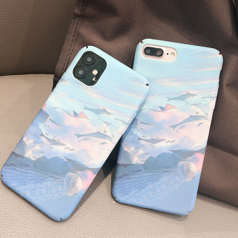 Claro la naturaleza paisaje Sanshui Rural cubierta dura de la PC de la caja del teléfono para Apple Iphone 11 Pro Max Plus Xr Xs X 8 8 7 6s 6 Funda