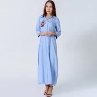 new turkey oman indian costume dress ramadan ethnic style three dimensional embroidered robe fashion muslim islamic prayer robe