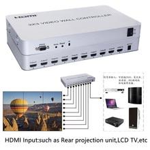 1080P HDMI contrôleur de mur vidéo 3x3 HD LCD TV processeur mural 1x9 Hdmi connecteur RS232 contrôle pour HDTV audio vidéo affichage