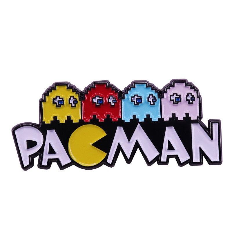 Pac-Man Esmalte Pin e Broches Alfinetes de Lapela Moda Jóias Das Mulheres Mochila Sacos de Presentes