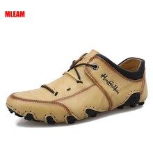 New Men's Shoes Spring Autumn Soft Comfortable Cowhide Breathable light Men Casual Shoes Plus Size 3