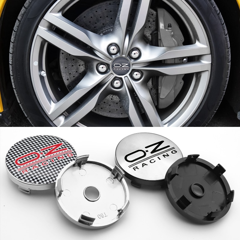 60mm emblem Wheel Center Hub Caps Badge covers Car modification parts OZ racing logo for tire parts car styling  - buy with discount