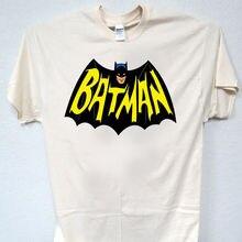 Batman 60S Logo Classic Adam West Cool Ivory T Shirt Size S 5X T 373