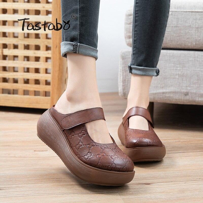 Tarob o-شبشب من الجلد الطبيعي للنساء ، مقاوم للاهتراء ، نعل خارجي بني كراميل S2611 ، نمط غير رسمي ، أحذية شاطئ ، أحذية يومية خفيفة الوزن