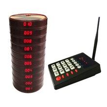 식당 페이징 시스템 무선 페이징 시스템 코스터 호출기 시스템 (키패드 1 개 및 방수 호출기 10 개 포함)