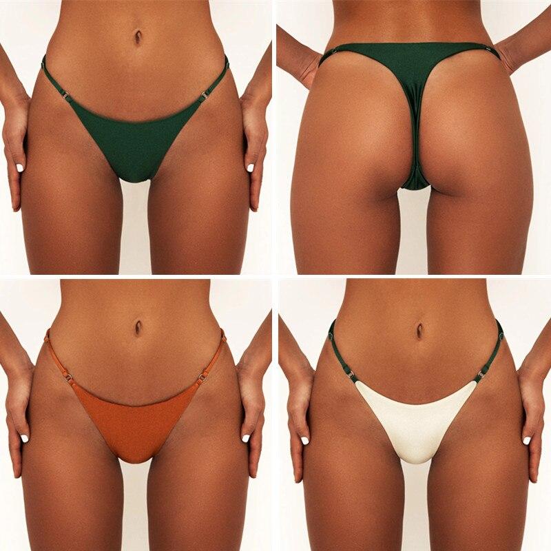 Bikini brasileño con Tanga de mujer, traje de baño brasileño con Tanga para playa y piscina, Bikini sexi con Tanga de mujer para verano 2020