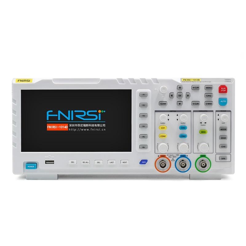 FNIRSI 1014D Digital Oscilloscope Dual Channel Input Signal Generator Osiloscopio Digital 1GSa/S Sampling Rate 1GB Storage