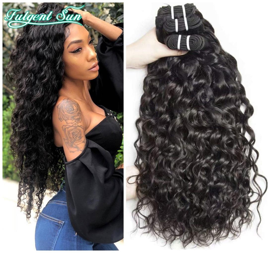 Волнистые человеческие волосы, волнистпряди, бразильские волосы, плетение, 8-28 дюймов, волнистые и волнистые человеческие волосы для наращи...