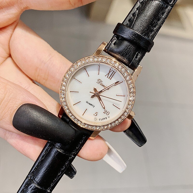 2021 Women Watch Black Casual Leather Strap Ladies Watches Luxury Quartz Female Wristwatches Top Brand Clock Ultra Thin Surface