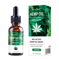 100  Organic Hemp CBD Oil 2000mg Bio-active Hemp Seeds Oil Extract Drop for Pain Relief Reduce Anxiety Better Sleep Essence