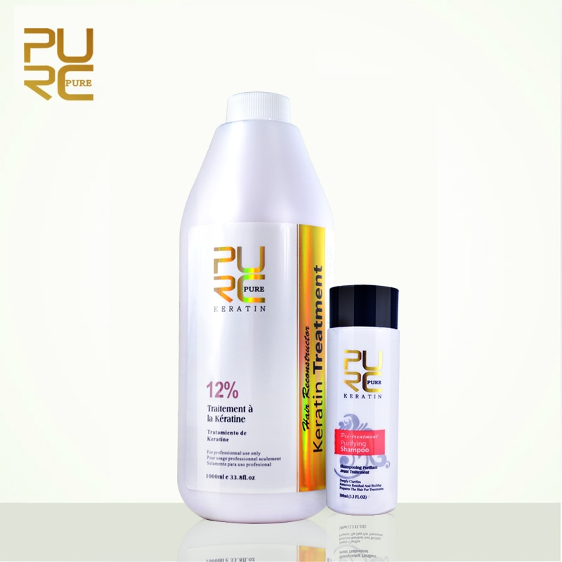PURC Repair and Straighten Damage Hair Product 12% Formlain 1000ml pure Chocolate Keratin Treatment