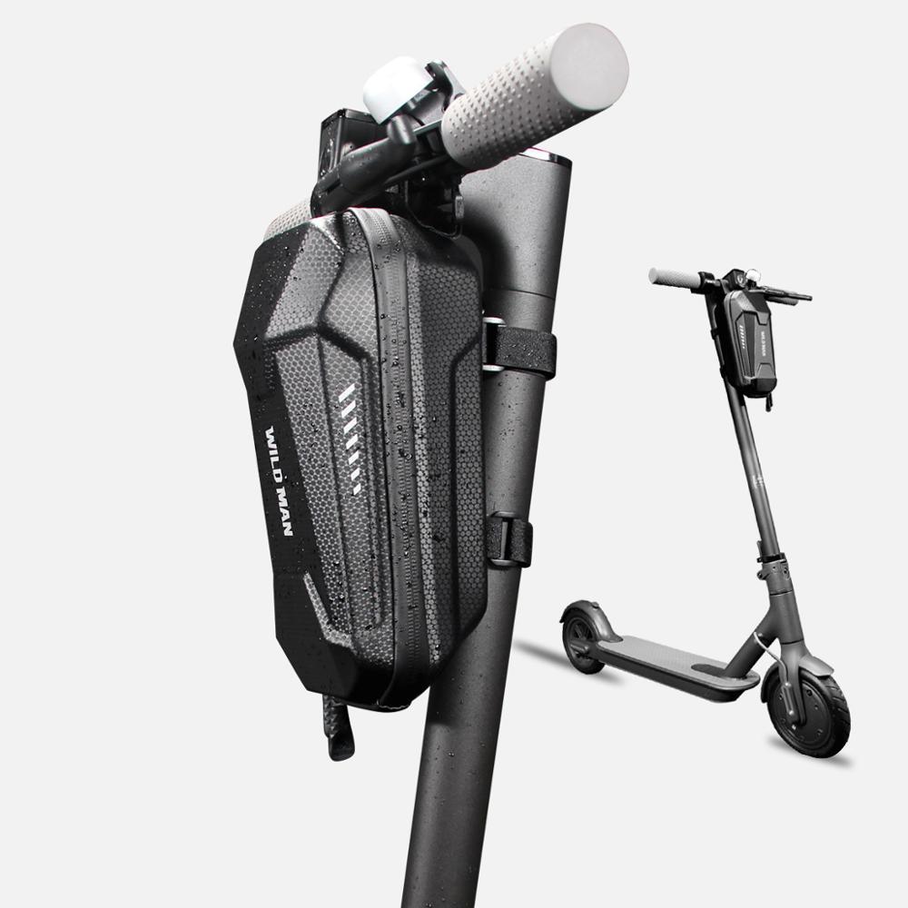 Scooter Eléctrico bicicleta bolsa de barra de manillar bicicleta eléctrica plegable bolsa de Eva duro caso de equilibrio del coche de la bicicleta bolsas