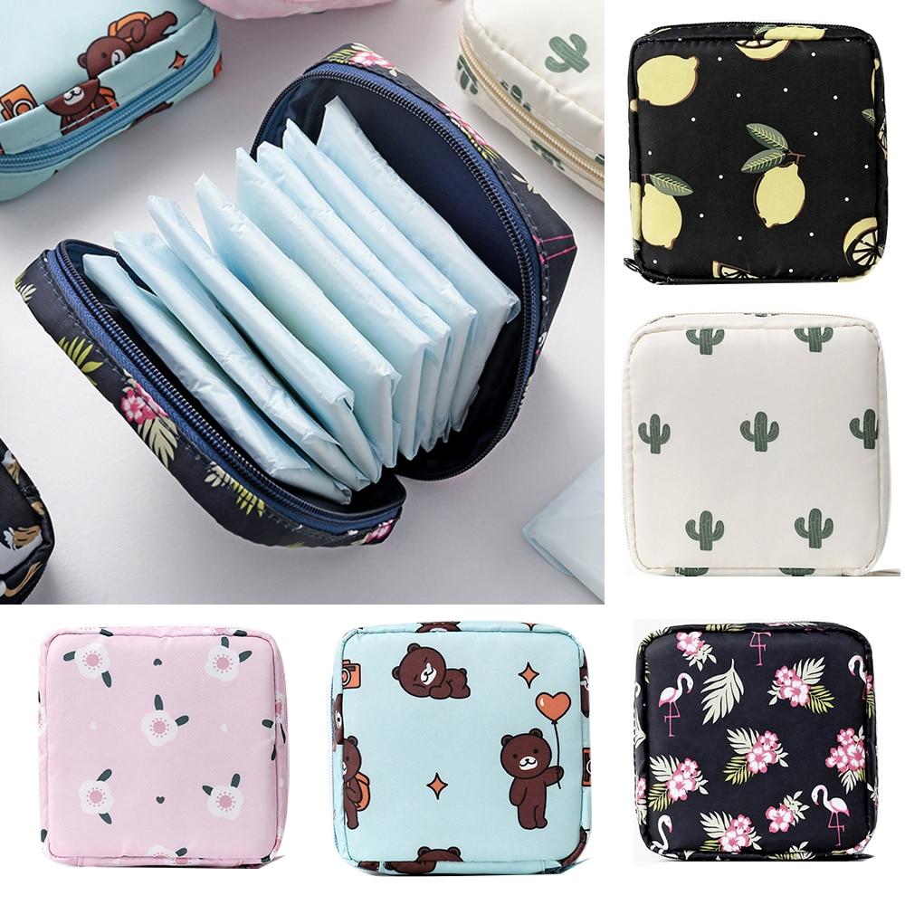 Toalla sanitaria de capacidad de tela portátil tampón bolso organizador bolsa niñas...