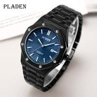 pladen 2020 new fashion mens quartz watches waterproof auto date pointer luminous wristwatch gift for husband orologio uomo pp