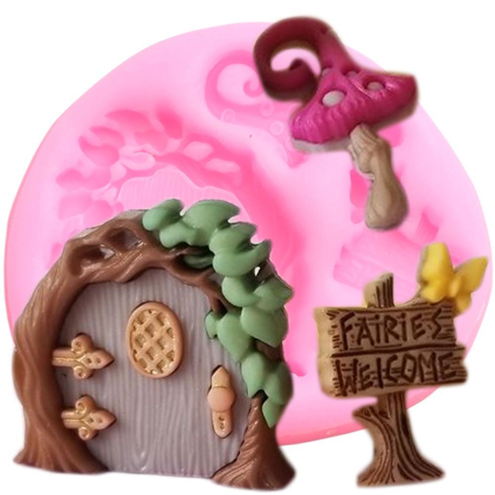 DIY Детские вечерние силиконовые формы для сада Феи дверь кекс Topper инструменты для украшения тортов из мастики конфетная глина форма для шоколадной мастики
