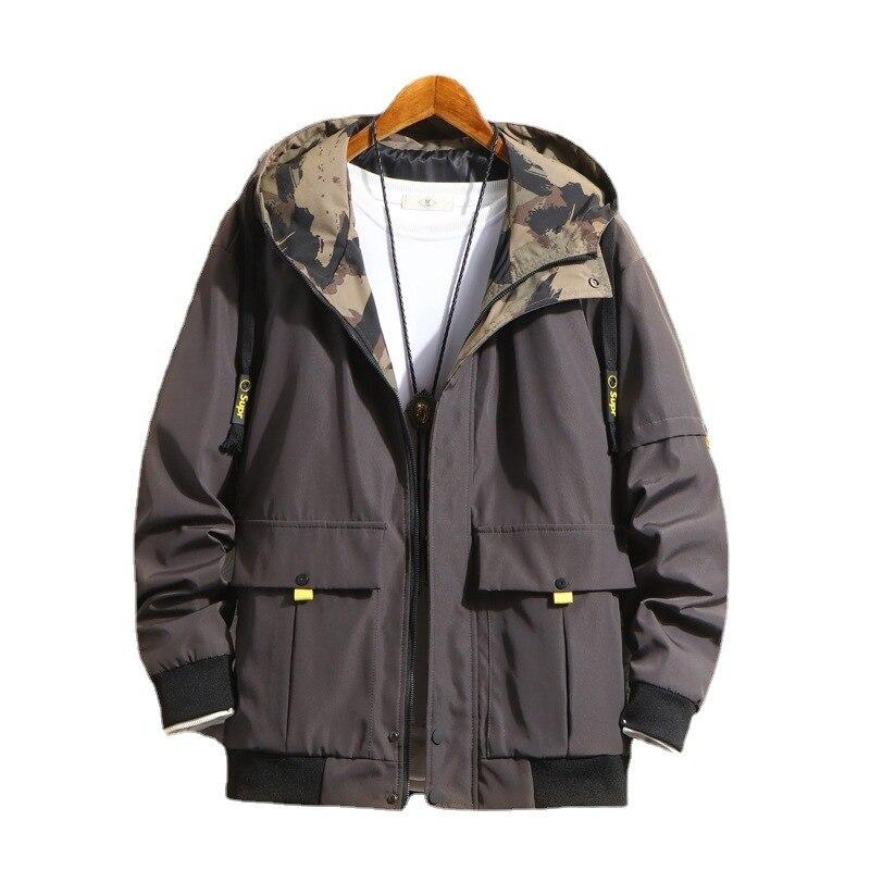 Мужская модная куртка ZOGAA осень-зима 2021 Молодежная Красивая повседневная куртка мужская Японская ветровка с капюшоном мужская одежда