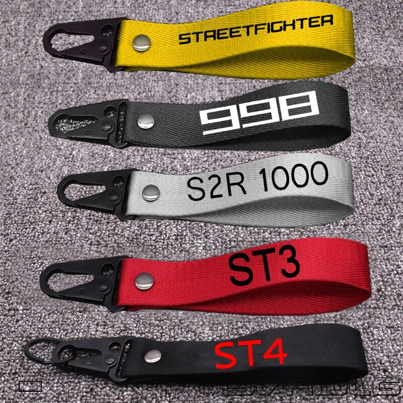LLavero de colección con llavero 3D para Ducati STREETFIGHTER S ST4S ST3/S/MTS1100 ABS/S 998B 998 S 998R, llavero para motocicleta