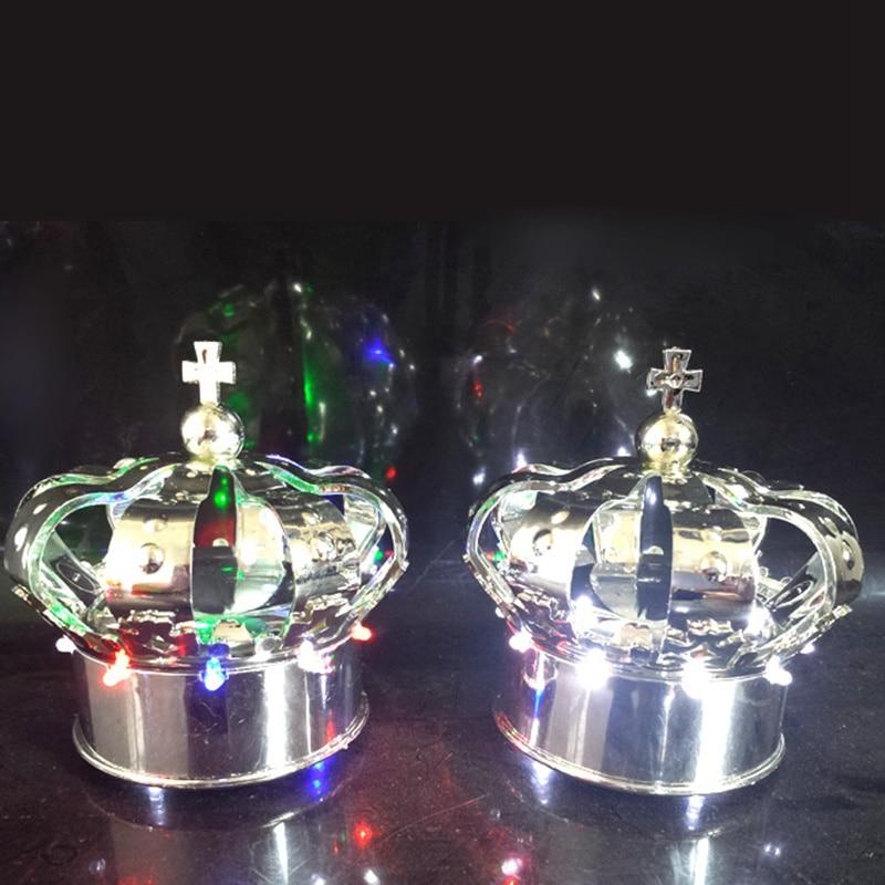 Nightclub champagne bottle cover cap flashing led light crown VIP Service Bottle Caps Lights free shipping 4pcs/lot enlarge