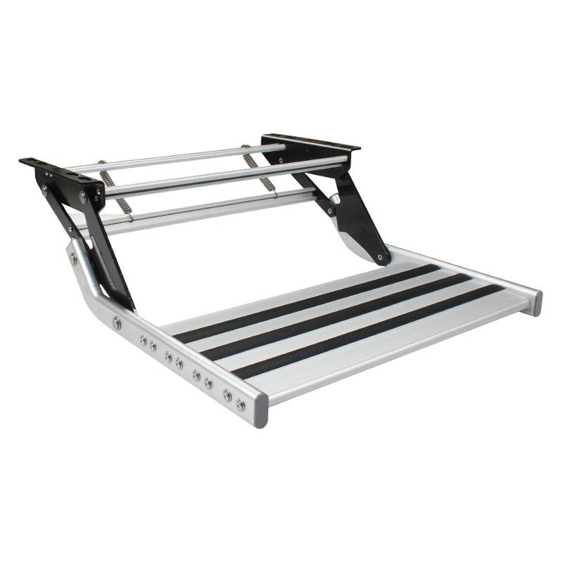 HEYRV Anti-slip High Strength RV Manual Pull Out Steps Aluminum Caravan Single Step RV Step enlarge