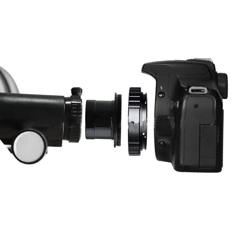 Lente de anillo T de 1,25 pulgadas, accesorios ligeros para cámara fotográfica, conjunto de adaptador de montaje inverso para microscopio telescópico