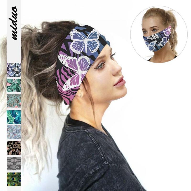 Banda para el pelo 7 Ttypes disponible con estampado Digital cielo estrellado deportes Yoga Fitness sudor absorbente turbante moda tendencia