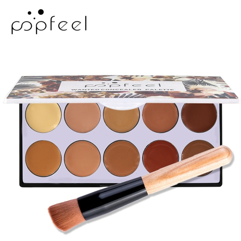 Paleta correctora de 10 colores a prueba de manchas a prueba de agua crema correctora de larga duración maquillaje cosmético profesional MKXJ