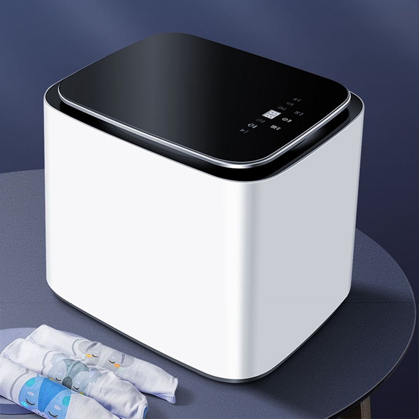 2KG Portable Washer and Dryer Fully Automatic Washing Drying Machine Multifunction High Temperature Household Travel Mini Washer