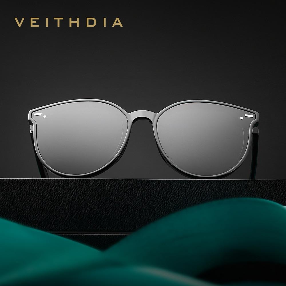 VEITHDIA Sunglasses Women Vintage Polarized Sun Glasses UV400 Lens Cat Eye Ladies Fashion Brand Designer Eyewear Female S8520