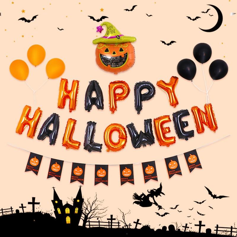 Decoración de Halloween, Globos de bricolaje, Araña, calabaza, fantasma, bola inflable para el hogar, fiesta festiva, Haloween, Globos de aire, decoración