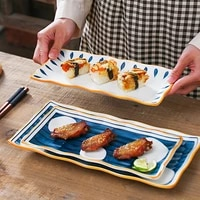rectangle serving plate large serving dishes for dessert cake appetizers meat sushi porcelain serving platter for christmas