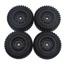 4Pcs Rubber Wheel Tire Tyre Set for MN86 1/12 RC Car DIY Upgrade Spare Parts Accessories