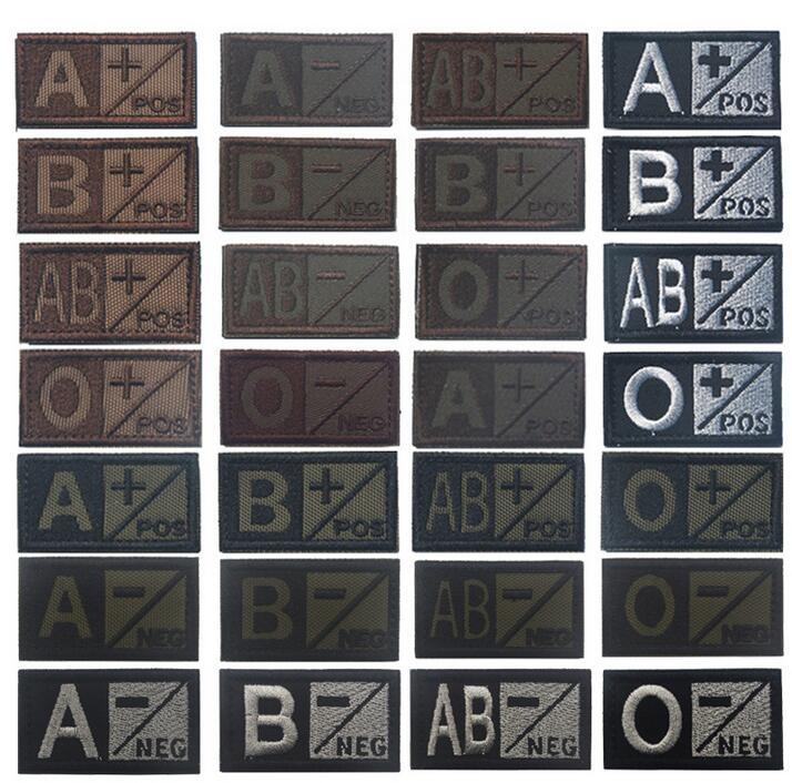 Creatrill-Patch de type sang gris vert brun   Bandes de badge militaire tactique pour vêtements, chapeau avec crochet et boucle